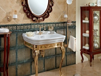 Sink - console gilded decorative stand