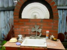Homemade washbasin to give