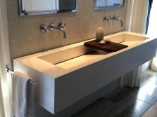 Tractor-mounted washbasin of 90 cm wide natural stone