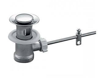 Automatic bottom valve for sinks