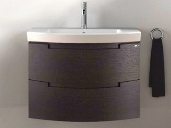 Sink with pedestal made ​​of plastic for bathroom