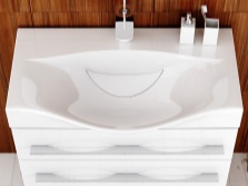 Sink with pedestal having drawers in the bathroom