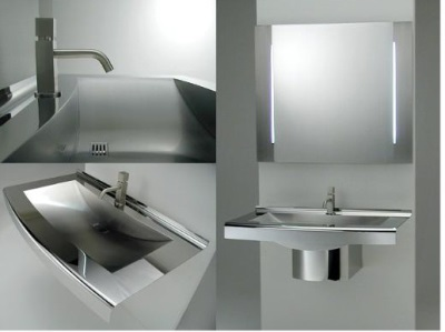 Steel suspension sink