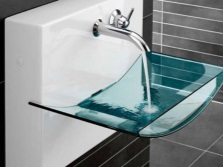Suspended glass sink Villeroy & amp;Boch