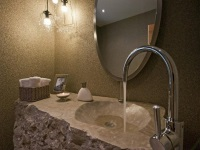 Natural stone sinks for the bathroom