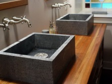 Washbasins made ​​of natural granite stone