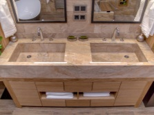Washbasins made ​​of natural marble stone