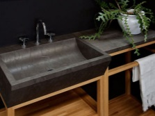 Rectangular sinks for the bathroom made ​​of natural stone