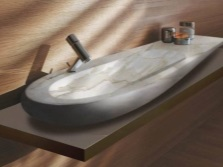 Unusual forms of natural stone sinks