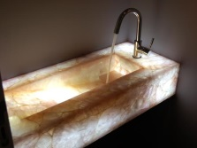 Shaped stone sinks for the bathroom