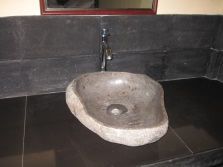 Unusual natural stone sinks