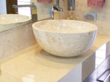 Stone sinks for the bathroom