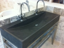 Rectangular stone sinks