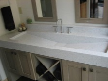 Basins made of artificial stone in the bathroom