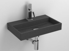 Sink made ​​of natural basalt bathroom