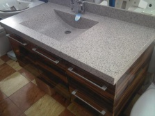 Sink made ​​of artificial stone granite
