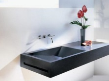 Artificial wash basin made ​​of ceramic granite