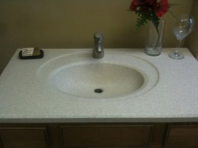 Porcelain artificial sink bathroom