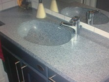 Sink made ​​of artificial composite stone