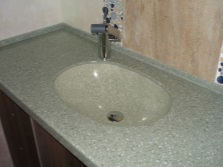 Sink made ​​of artificial composite material for bathroom