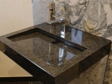 Washbasin artificial agglomerated stone
