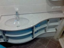 Sinks made ​​of artificial stone materials