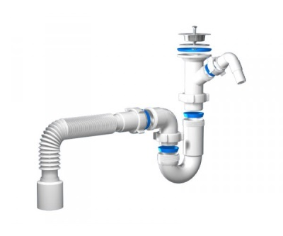 Pipe siphon for sinks