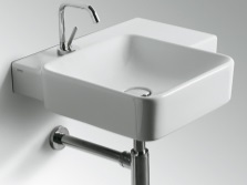 Sink with chrome siphon