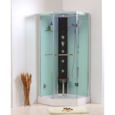 Shower with built-in steam generator
