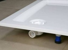 Install a siphon on the shower tray