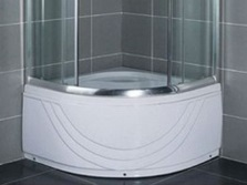 Deep trays, shower stalls without a roof
