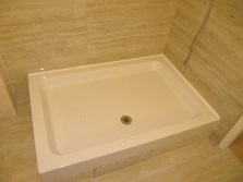 Ceramic shower trays hydromassage
