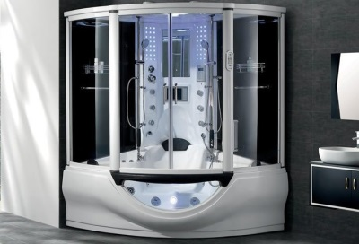 Additional features shower cubicle with hydromassage