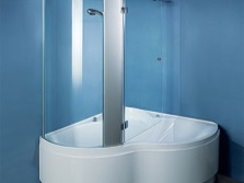 Combined bathtub with partition