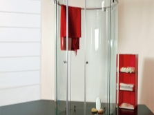 Round glass shower