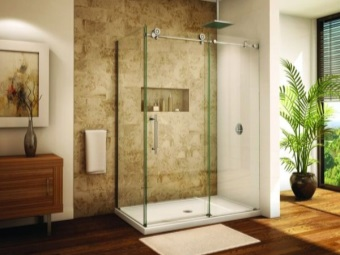 Clear glass in the shower