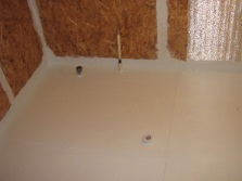 Waterproofing of the floor in the bathroom in a wooden house
