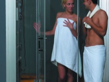 Turkish bath in the shower cabin
