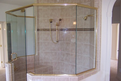 Large shower with their own hands