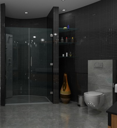 Modern shower cabin with his own hands