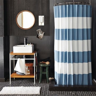 Cloth curtains for shower cabins