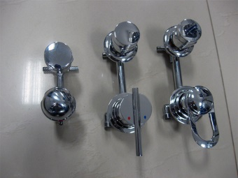 New faucets for shower cabins
