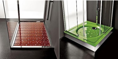 Glass shower trays