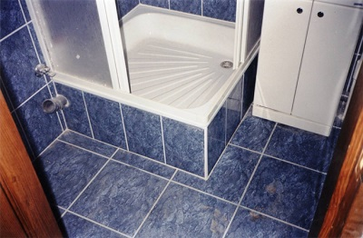 A small shower tray