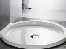 Steel enamel shower tray