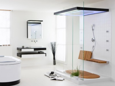 An example of the shower in a small room
