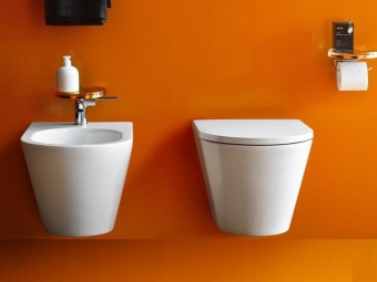 Hanging rimless toilet
