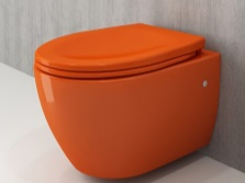 squat toilet in orange