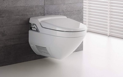 Toilet bowl with a hygienic shower - shower toilet