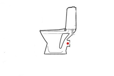 Horizontal outlet squat toilet